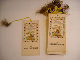 40 Antique Bookmarks Daniel Webster Flour - $27.71