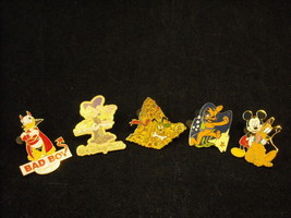 5 Disney Characters Collectible Official Trading Pins Hidden Mickey 2007