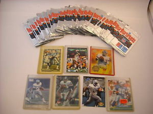 50 Football Collectible Trading Cards Dominos