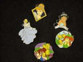 5 Disney Princess Collectible Official Trading Pins 4 Hidden Mickey