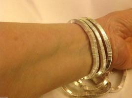 4 steampunk micro mini silver square metal element shiny dull mobile bracelet image 3