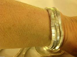 4 steampunk micro mini silver square metal element shiny dull mobile bracelet image 7