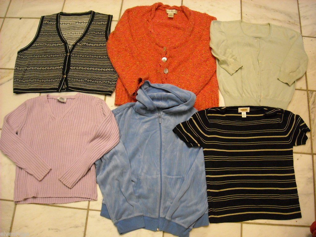 6 pieces Women's Clothing Knit tops size small petite Ann Taylor Talbots Bristol