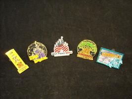 5 Disney Collectible Official Trading Pins from Rides and Shows