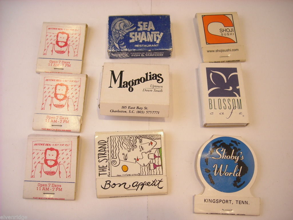 9 Matchbooks and boxes from Southern US