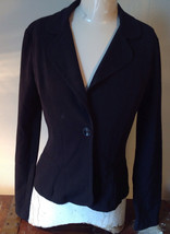 A Byer Black Blazer Two Fake Pockets on Front Black Button Closure Size M