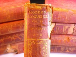 9 Volumes of Modern Eloquence (1900s) rare books
