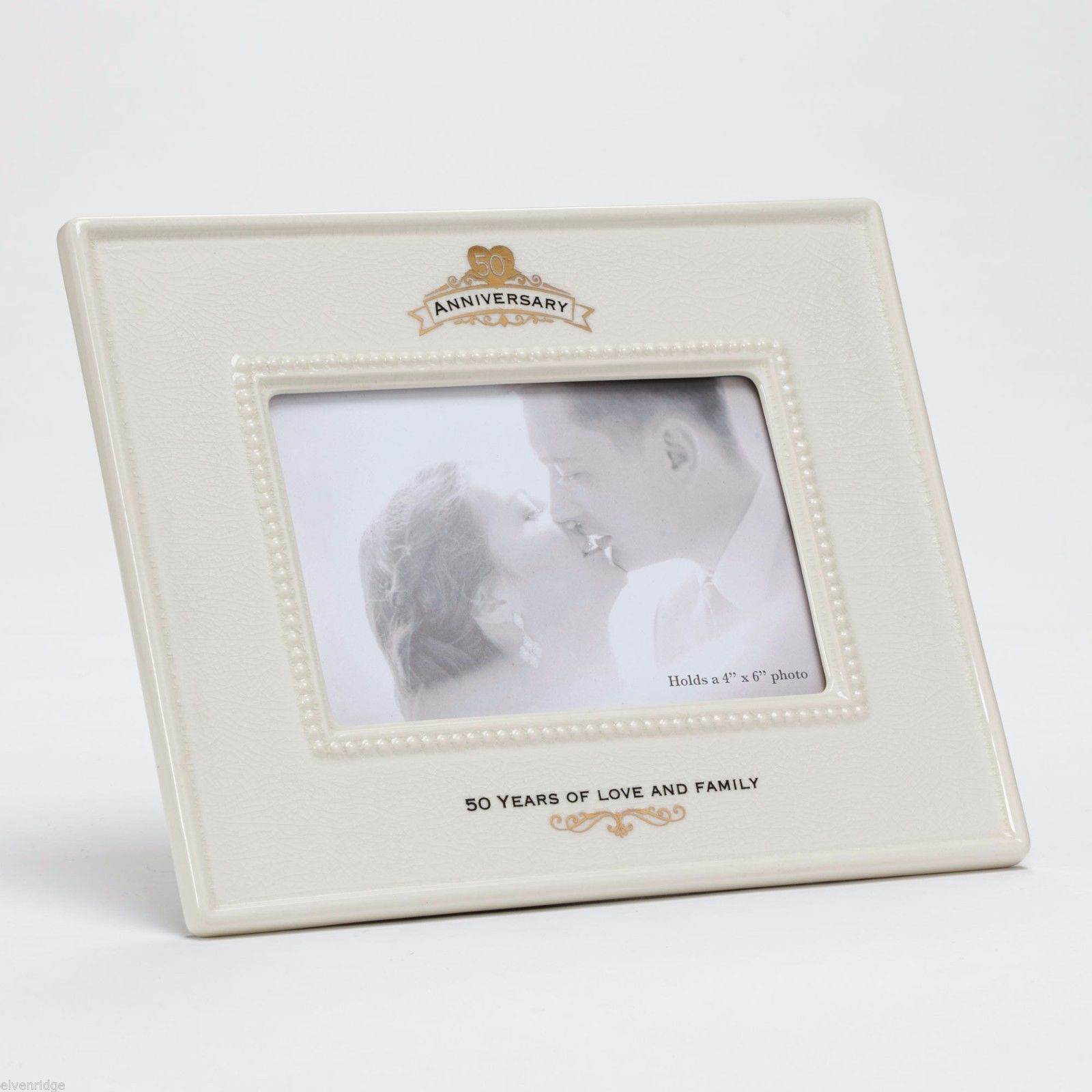 50th Anniversary Ceramic Photo Frame 50 Years of Love and Family