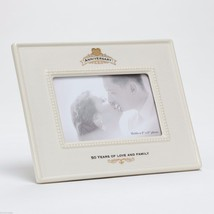 50th Anniversary Ceramic Photo Frame 50 Years of Love and Family image 1