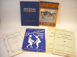 6 Antique Sports and Physical Fitness Books/Pamphlets from 1930's-40's image 1