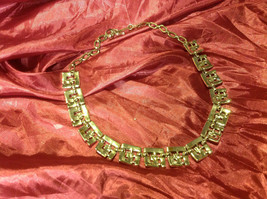 6 inch gold colored short necklace