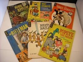 6 Gold Key Comics 1963 Boris Karlof Disney  Popeye