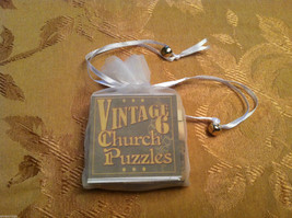 6 Sided Cube Vintage Church Puzzle - Cat and Dog Themed image 2