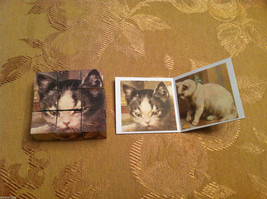 6 Sided Cube Vintage Church Puzzle - Cat and Dog Themed image 3