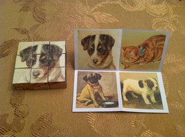 6 Sided Cube Vintage Church Puzzle - Cat and Dog Themed image 4