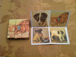 6 Sided Cube Vintage Church Puzzle - Cat and Dog Themed image 5