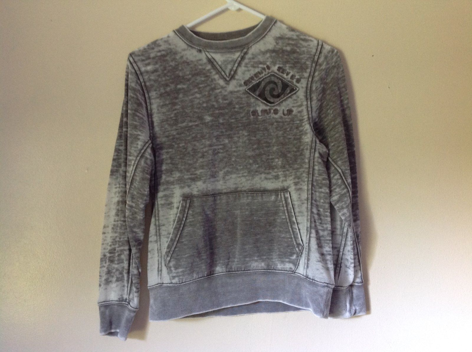 77 Kids by American Eagle Size M 10 Gray White Long Sleeve Sweatshirt