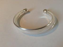925 Silver Twist Bracelet Adjustable Thick Round Ends image 1