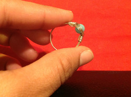 8 ring wrap silver with germanium to prevent tarnish sky light blue silver image 3