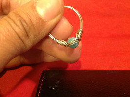 8 ring wrap silver with germanium to prevent tarnish sky light blue silver image 5