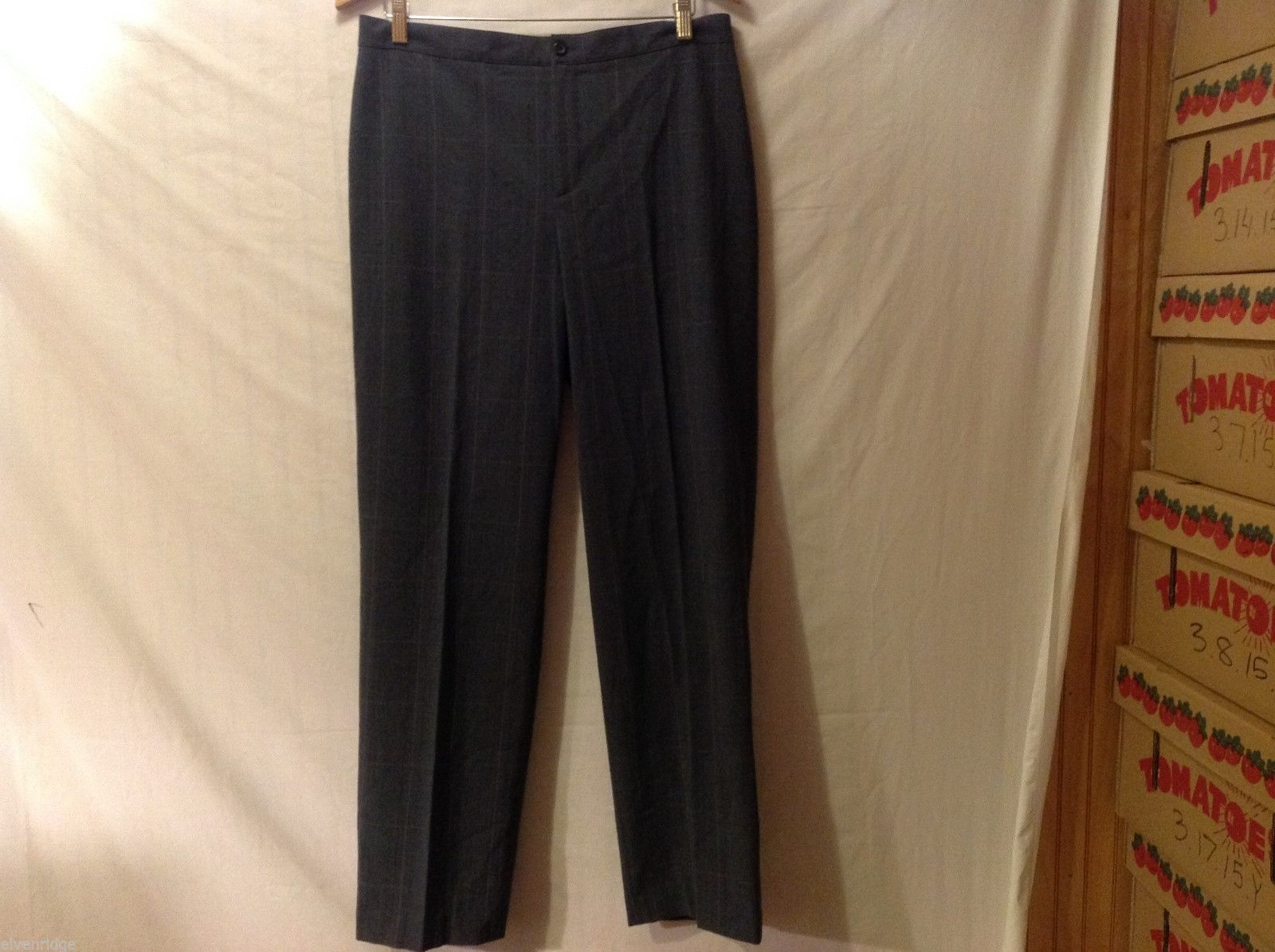 APT 9 Womens Gray Pinstriped Pants, Size 12.