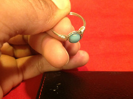 8 ring wrap silver with germanium to prevent tarnish sky light blue silver image 6
