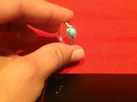 8 ring wrap silver with germanium to prevent tarnish sky light blue silver image 2
