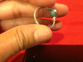8 ring wrap silver with germanium to prevent tarnish sky light blue silver image 4