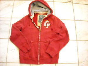 Abercrombie and Fitch Size L Red Zipper Hoodie