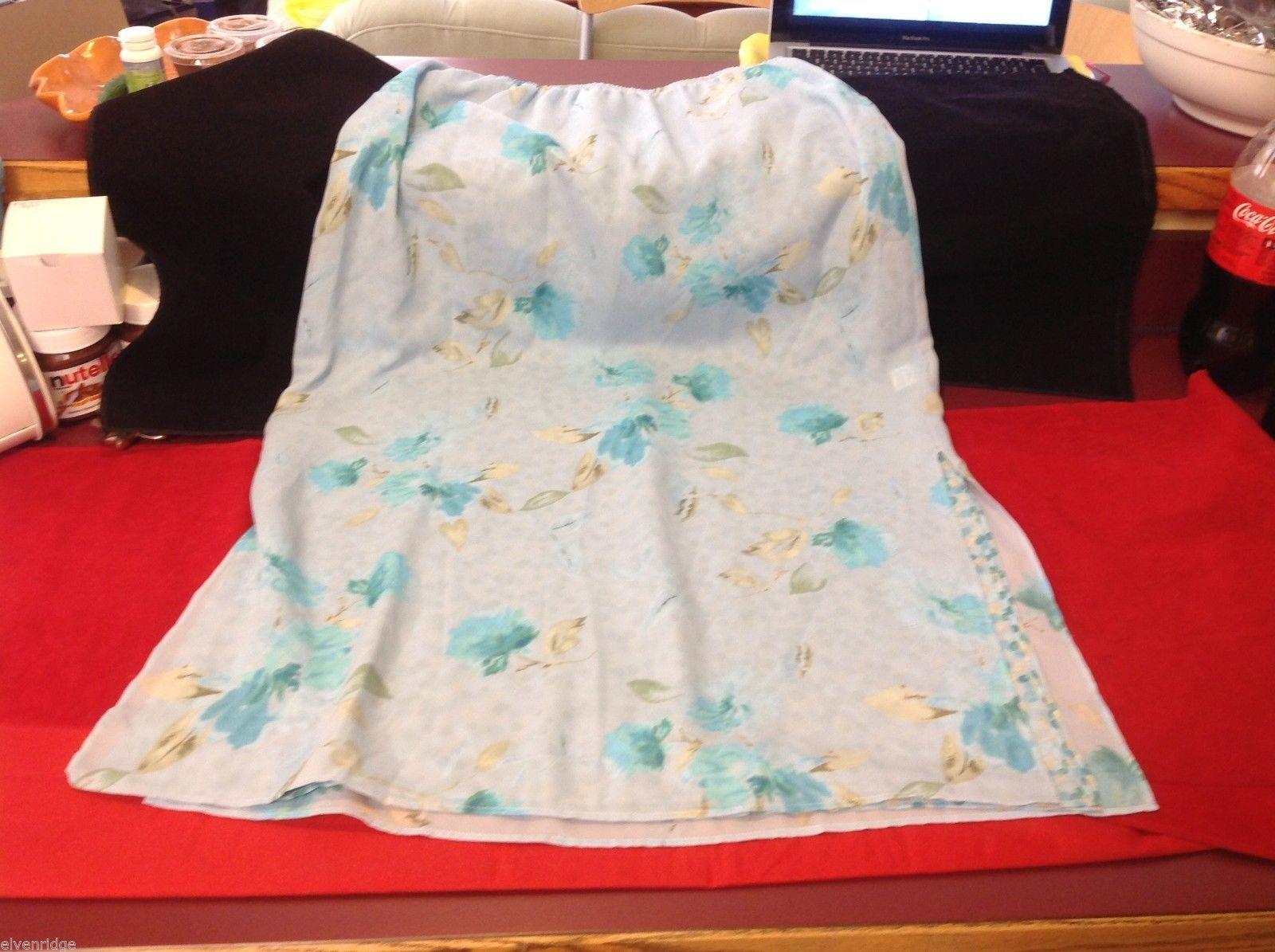 About face skirt light blue w leaves and lined size 12