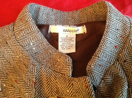 AAApple Womens Short Sleeve Coat Brown Color Size Small image 5