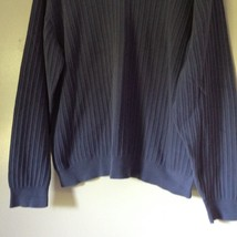 Alfani Size XL Long Sleeve V Neck Blue Sweater 100 Percent Cotton image 3