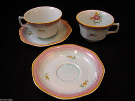 Adams modern issue  Lowestoft  tea cups  saucers CalyxWare Ironstone