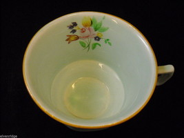 Adams 4 older Lowestoft #2087  tea cups  saucers CalyxWare Ironstone image 7
