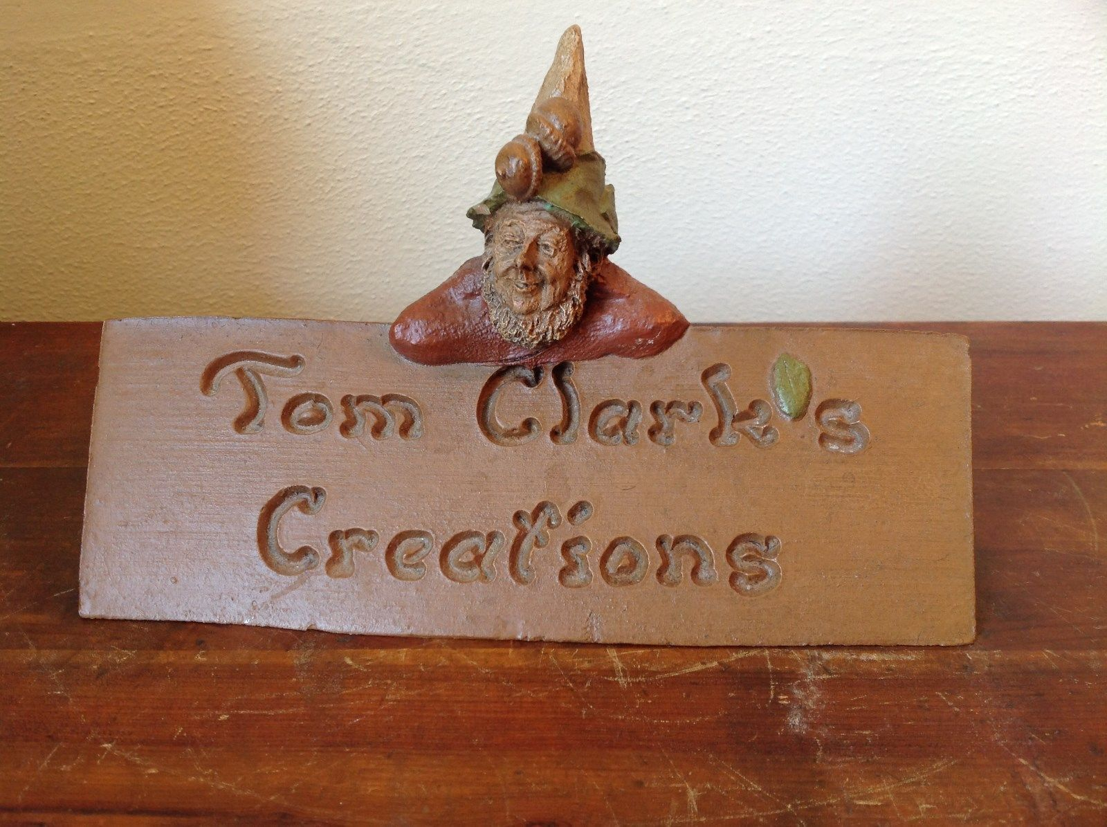 Primary image for Adorable Figurine of Rustic Nature Loving Gnome Tom Clarks Creations
