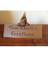 Adorable Figurine of Rustic Nature Loving Gnome Tom Clarks Creations - $44.54