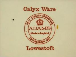 Adams Lowestoft  6 sided light blue with roses Calyxware English Ironstone China image 3