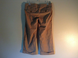 Abercrombie and Fitch Size 6 Stretch Waist Brown Capris with Blue Stripes image 7