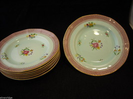 "Adams Lowestoft 7 8"" salad plates  Calyxware English Ironstone China image 5"