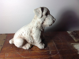 Adorable Large Clay  Dog Figurine Rough Heavy Solid Made in England image 4