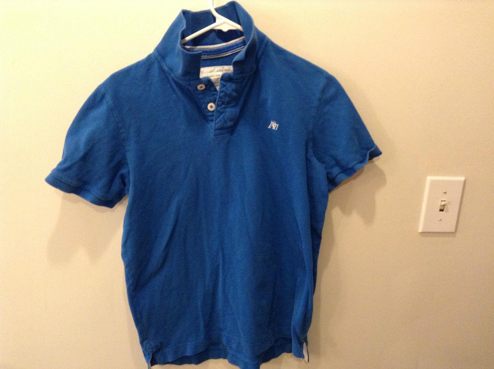 Aeropostale Short Sleeve Light Blue Polo Shirt Size Medium