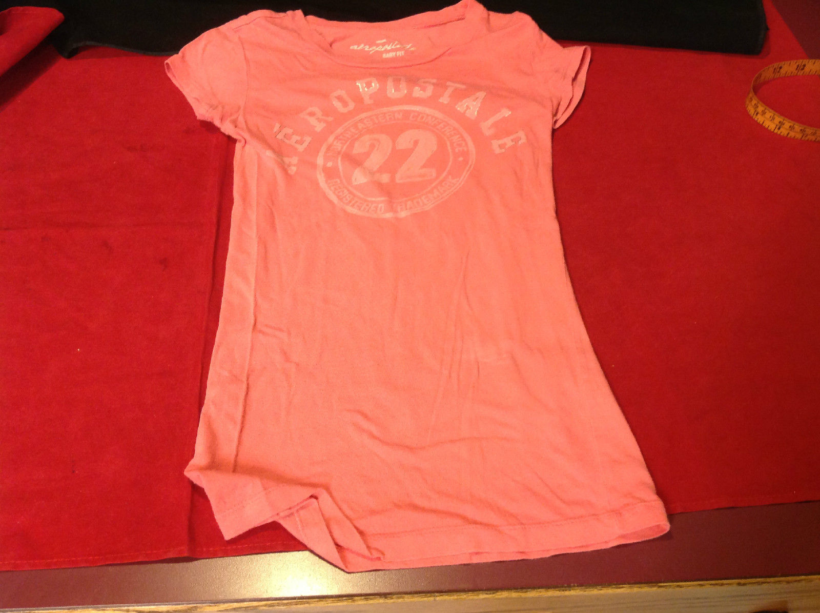 Aeropostale Ladies T-shirt Orange Color Baby Fit Size XS TP