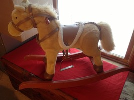 Adorable Brown Rocking Horse with Saddle Stirrups Neighs when ear is squeezed image 8