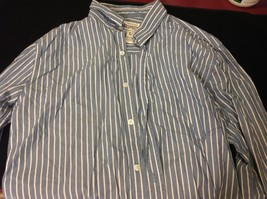 Aéropostale blue and white striped button down shirt S P