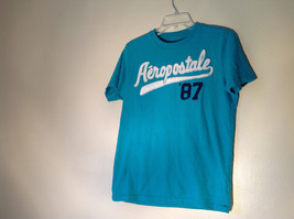 Aeropostale in White Letters on Green Short Sleeve T-Shirt Plain Back Size Small - $39.99