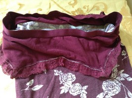 Aeropostale Maroon Tank Top Spaghetti Strap Build in Under Bra Laced Up Size M image 4