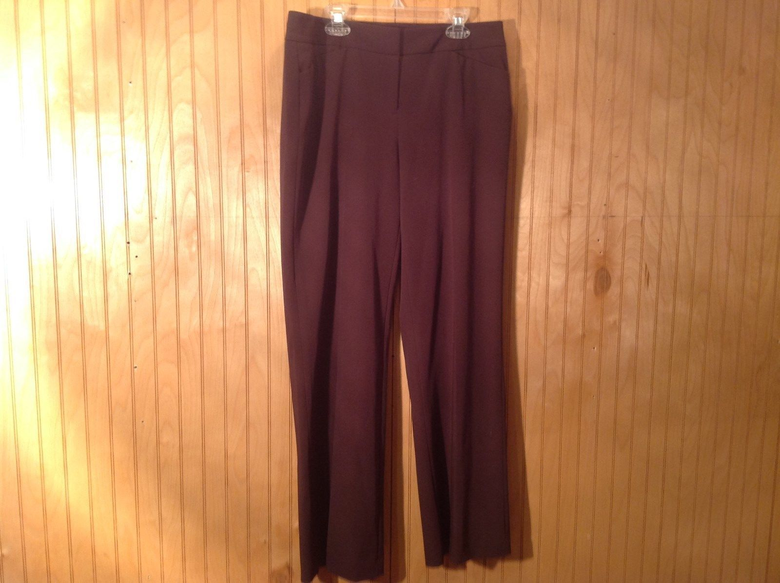 Alfani Petite Brown Pleated Front Dress Pants Size 8P Front and Back Pockets