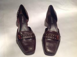 Aerosoles Brown Closed Toe Closed Heel Slip On Heels Size 6.5