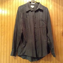 Alfani Single Needle Tailoring Black and Blue Button Down Shirt Size 34 to 35