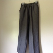 Alfred Dunner Light Gray Dress Pants Elastic Waistband Size 10
